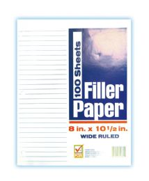 48 of Check Plus Filler Paper 100 Sheet 8 X 10.5 In Wide Ruled