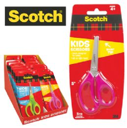 36 of Scotch Kids Scissors 5 Inch Soft Touch Handles Astd In Display