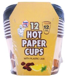 36 of Pride Hot Paper Cup 12 Ounces 12 Cups + 12 Lids