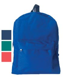 18 of Back Pack 16x12x6 Inches Assorted Colors