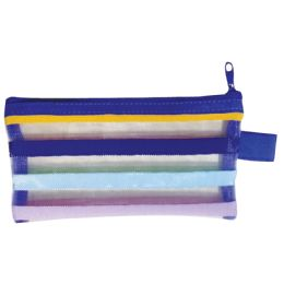 48 of School Supply Pouch Mesh Nylon 6.5x3.5 Inches
