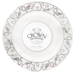 12 of Crown Dinnerware Dinner Plate 7 Inch 10 Pack Platinum Collection