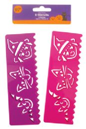 36 of Halloween Stencils 8 Count Purple/pink Prepriced $0.97