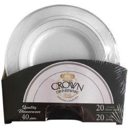 6 of Crown Dinnerware 40 Pc Plate S
