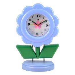 5 of Desk Clock Standing Flower Sty