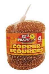 48 of Copper Scourer 4 Pack 15 Grams In Net Bag