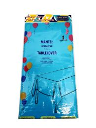 48 of Plastic Table Cover 54x108 Turquoise