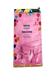 48 of Plastic Table Cover 54x108 Pink