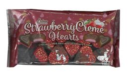 24 of Strawberry Creme Hearts 4.5 oz