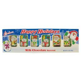 24 of Santas And Snowman Tray 1.5 Oz Milk Chocolate Flavored