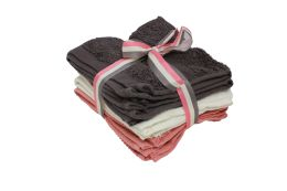 24 of Wash Cloth 6pk 13 X 13 Assorted Colors