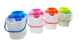 12 of Mop Bucket W/ringer And Wheel 4.5 Gal Astd Colors
