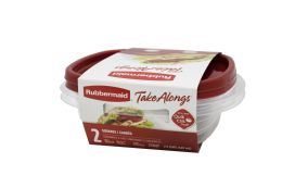 12 of Rubbermaid 2ct Sandwich Container Ruby (2 Lids + 2 Containers) 686 Ml/23.2 oz