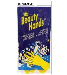 144 of Latex Glove X-Large Yellow Flock Lined