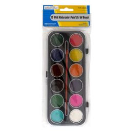 36 of 12 Water Color Paint Set With Brush
