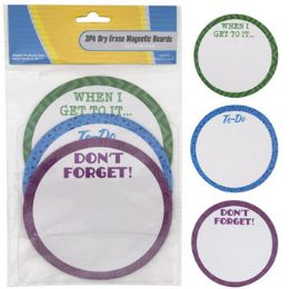 36 of Dry Erase Boards Magnetic 3pk Round Reminder 5x5in