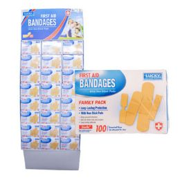 96 of Bandages 100ct Family Pack