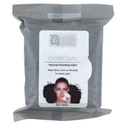24 of Facial Wipes 30ct Charcoal Makeup Cleansing In 24pc Pdq