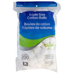 24 of Cotton Balls 200ct 100% Cotton Peggable And Resealable Bag