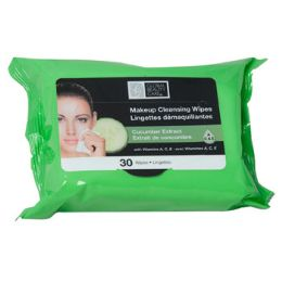 48 of Facial Wipes 30ct Cucumber Makeup Cleansing 4-12pc Pdq
