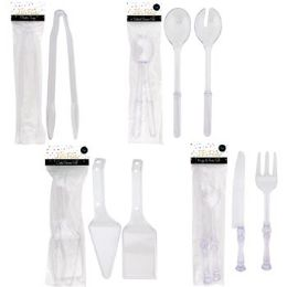 48 of Serving Utensils Clear Plst 2pc