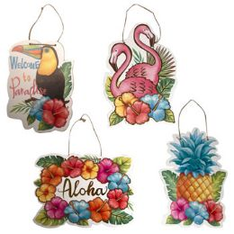 24 of Luau Party Hanging Plaque