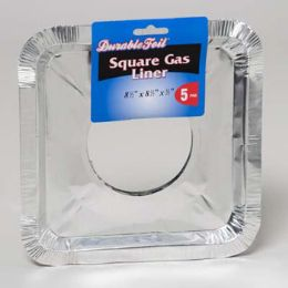 12 of Aluminum Square Gas Liner 5pk