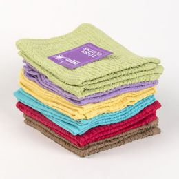 72 of Kitchen Dish Cloths 2pk 12x12 6 Assorted Colors See n2