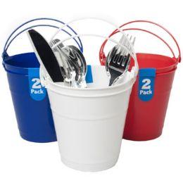 24 of Bucket 2pk Plastic W/handle