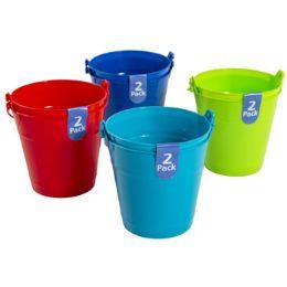 48 of Bucket 2pk Plastic W/handle