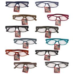 12 of Reading Glasses Refill +2.25 Asst StyleS-More Strengths Avail