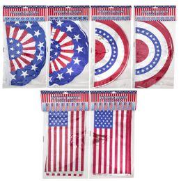 72 of Banner Patriotic 12ft 3asst