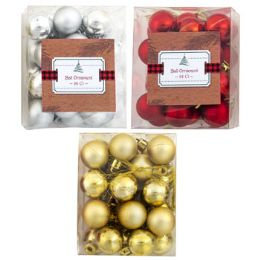 144 of Ornament Ball 24ct 1in Mat/shiny