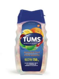 12 of Tums 8 Ct Chewable Tablet Extra Assorted Fruit