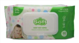 24 of Baby Wipe 80 Ct W/white Lids