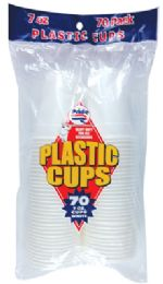 36 of Pride Plastic Cup 70 Ct 7 Oz White