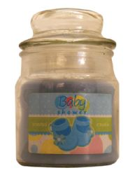 12 of Candle 3 Ounce Baby Shower Blue