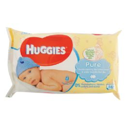 10 of Huggies Baby Wipes 56 Count Pure