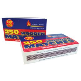 48 of Wooden Kitchen Matches 2 Pack 250 Count