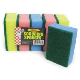 48 of Scouring Sponge 6 Pack 4 X 3 X 1 Inch