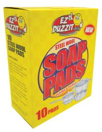 36 of Ez Duzzit Scouring Steel Wool Soap Pads 10 Pack