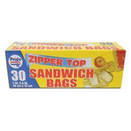 48 of Sandwich Bag 30 Ct 6.5 X 5.875 Inch Zip Top