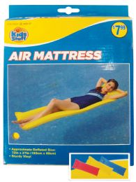 12 of Pool Floater Air Mattress 72 X 27 Inch Assorted Colors Ages 14+ Prepriced $7.99