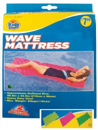 10 of Wave Mattress 85.5 X 34.5 Inch Assorted Colors Ages 14+ Prepriced $7.99