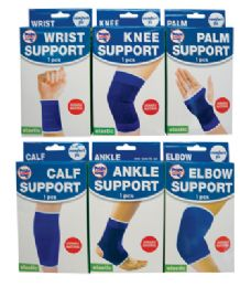 48 of Elastic Bandages 6 Assorted One Size Fits All (ankle Support/ Calf Support/ Elbow Support/ Knee Support/ Palm Support And Wrist Support)