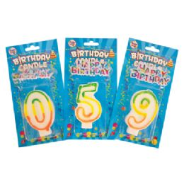 72 of Number Birthday Candles 3 Inch With Cake Decoration Numbers 0-9