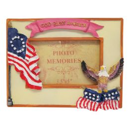 48 of Photo Frame 3 X 5 Inch Assorted Patriotic Designs