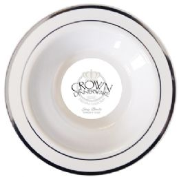 12 of Crown Dinnerware Soup Bowl 10 Pk 12 Oz Executive Collection White/silver
