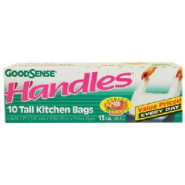 24 of Good Sense Kitchen Bag 10 Pack 13 Gallon With Handles Spring Meadow Scent