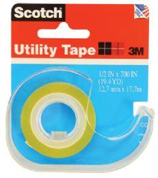 144 of 3m Scotch Utility Tape .5 X 700 Inch